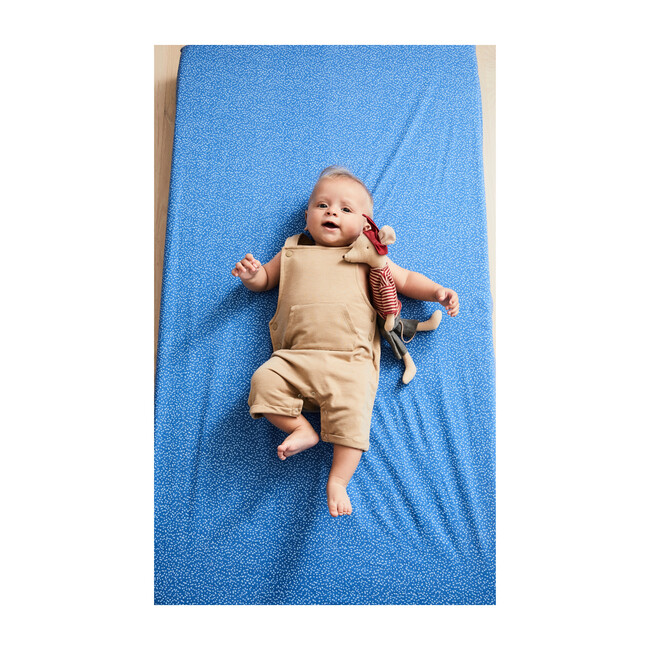 Dotty Crib Sheet Set, Blue