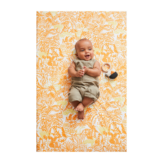 Jungle Crib Sheet Set, Orange