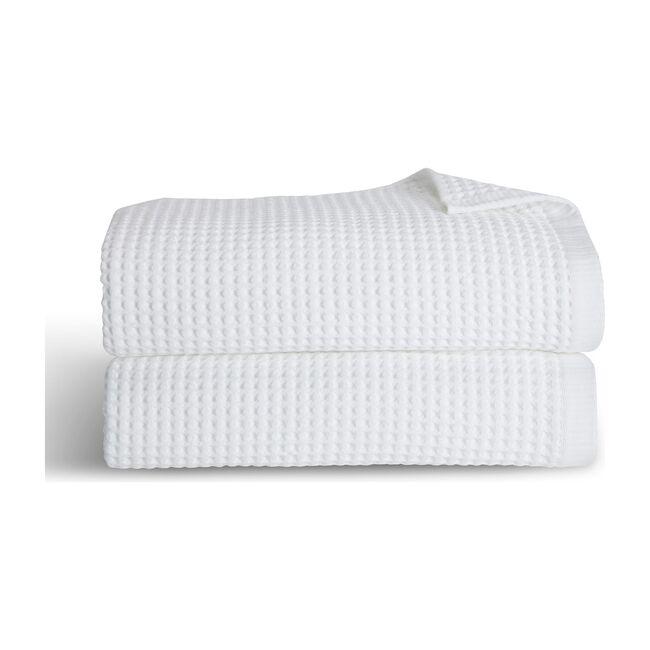 Waffle Bath Towels, White