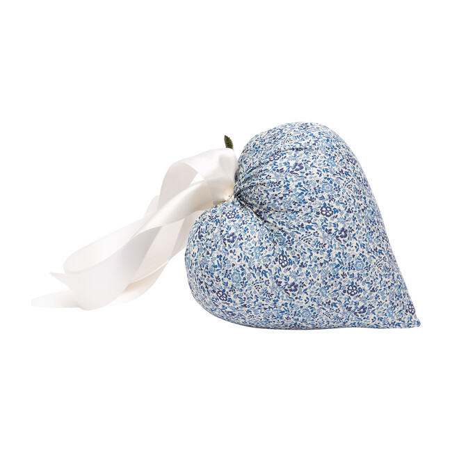 *Exclusive* Liberty of London Hanging Heart, Blue Floral