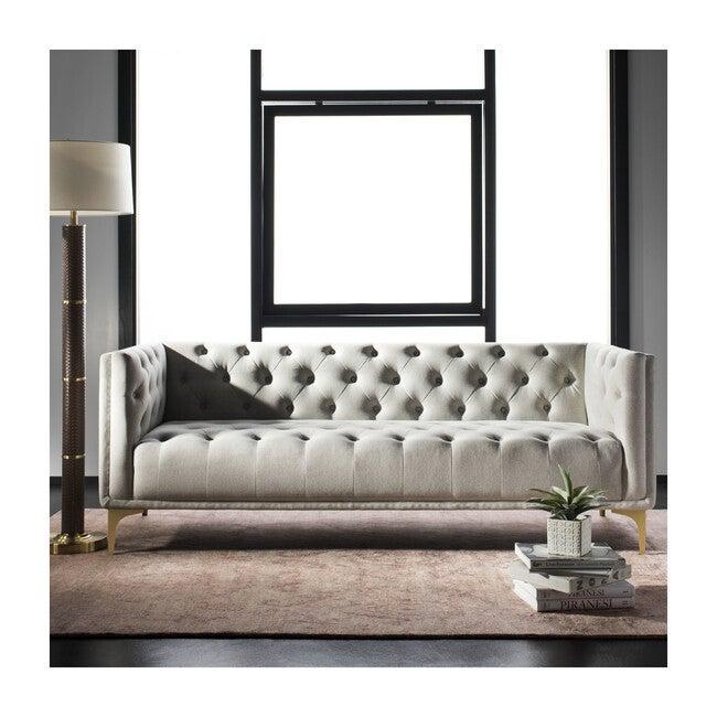 Florentino Tufted Sofa, Grey