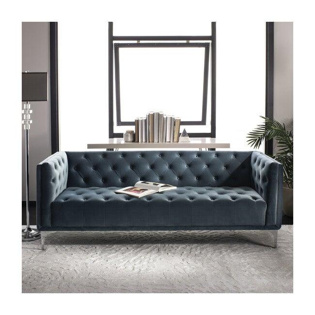 Florentino Tufted Sofa, Dusty Blue