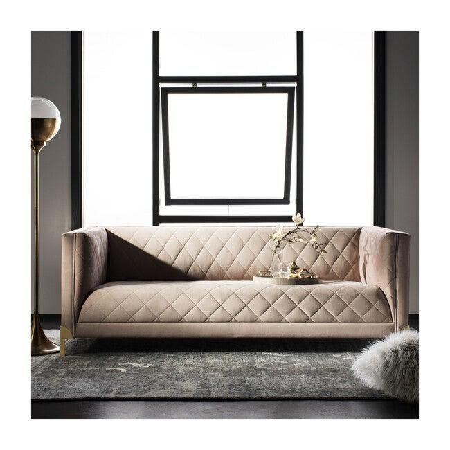 Luanna Diamond Trellis Sofa, Rose