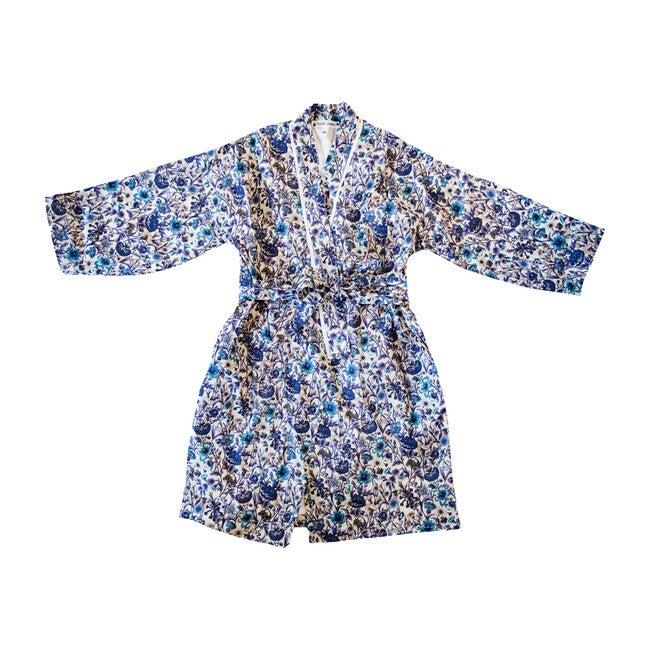 Veetzie Kimono Robe, Blue  White Liberty