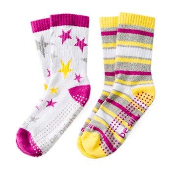 Polly Kids 2 Pack Grip Socks, Multi