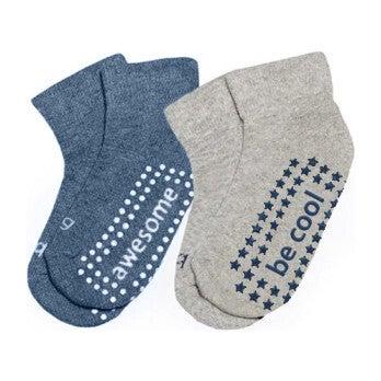 Tommy 2 Pack Grip Socks, Multi
