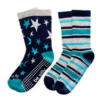Parker 2 Pack Grip Socks, Multi