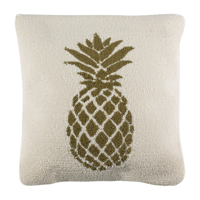 Pure Pineapple Indoor/Outdoor Pillow, Olive