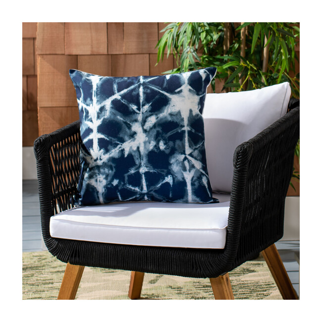 Maven Indoor/Outdoor Pillow, Blue/White