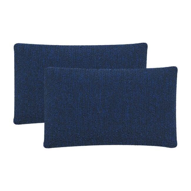 Set of 2 Soleil Indoor/Outdoor Pillows, Dark Blue