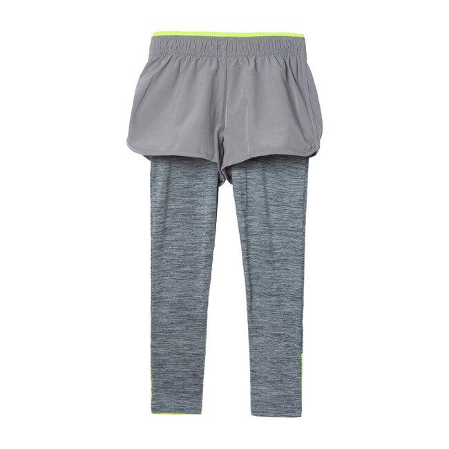 Space Dye Jersey Sport Legging, Grey