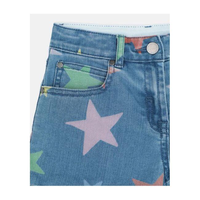 Multi Stars Denim Short, Blue