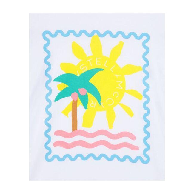 Palm Sunshine Tee, White