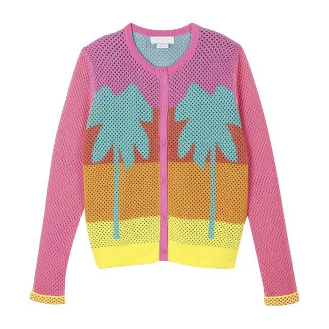 Mesh Palms Cardigan, Multi