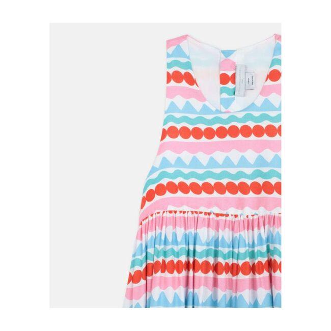 Graphic Stripes Crepe Dress, Multi