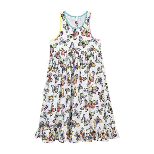 Butterflies Dress, Multi