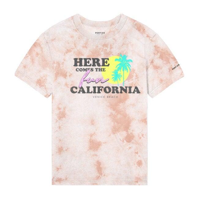 Cali Tee, Pink Tie Dye