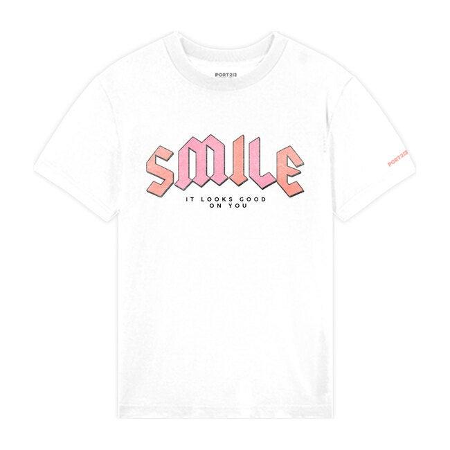 Smile Tee, White