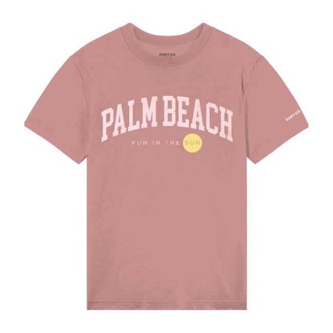Palm Beach Tee, Washed Pink