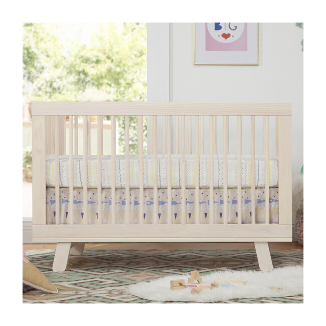 Hudson 3-in-1 Convertible Crib with Toddler Bed Conversion Kit, Natural