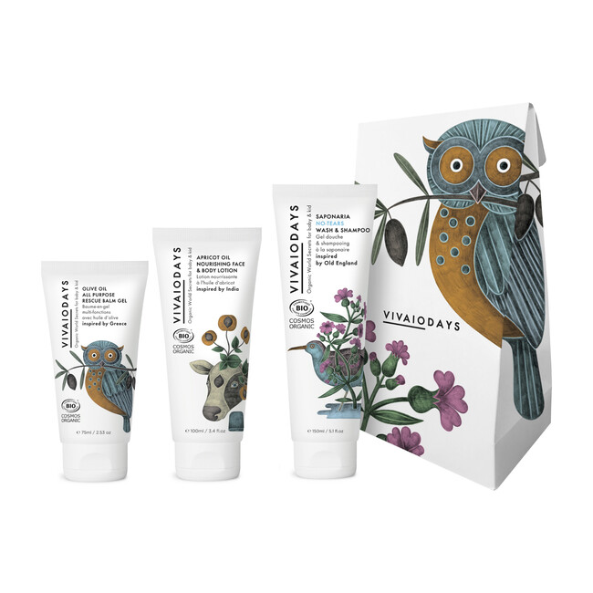 Gift Set: Organic World Secrets For Baby & Kid Daily Care - Body Moisturizers - 1