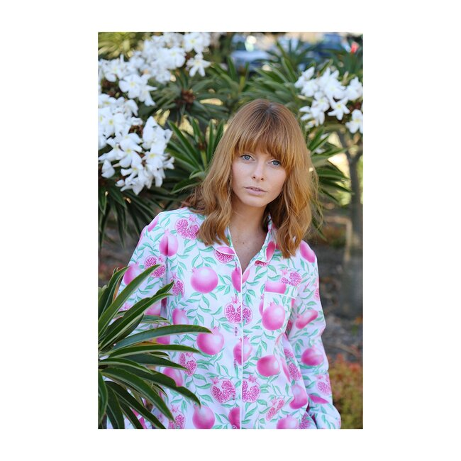 Women's Night Shirt, Pomegranate
