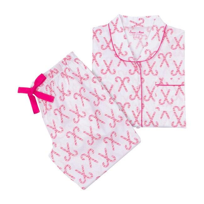 Women's Shirt + PJ Pant Set, Candy Cane