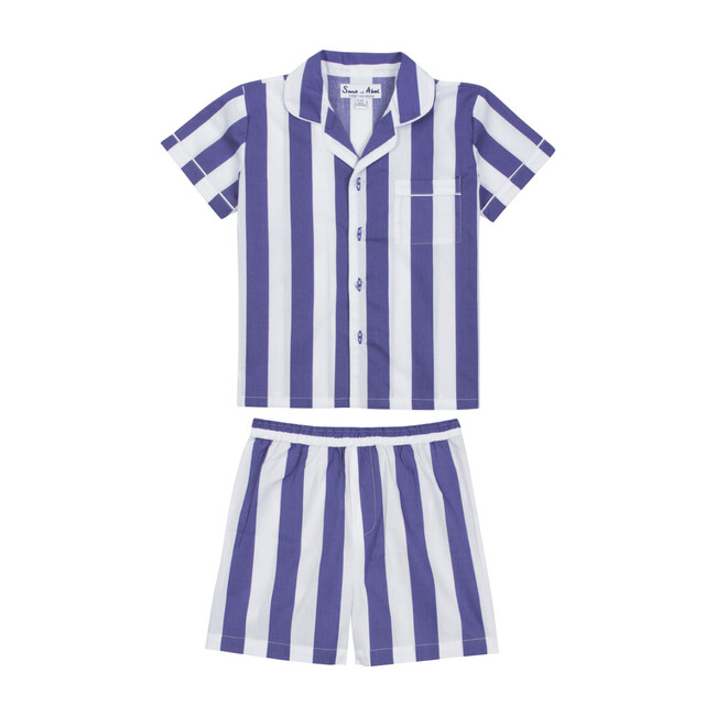 Boy's Braddock Shirt + Short Set, Navy