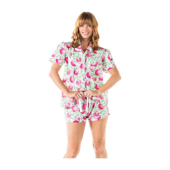 Women's Shirt + Boxer Set, Pomegranate