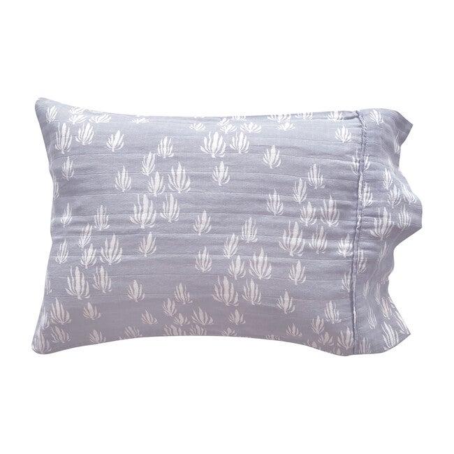 Inverse Seaweed Toddler Pillowcase, Bay Blue - Shams - 1
