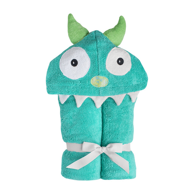 Monster Hooded Towel, Turquoise