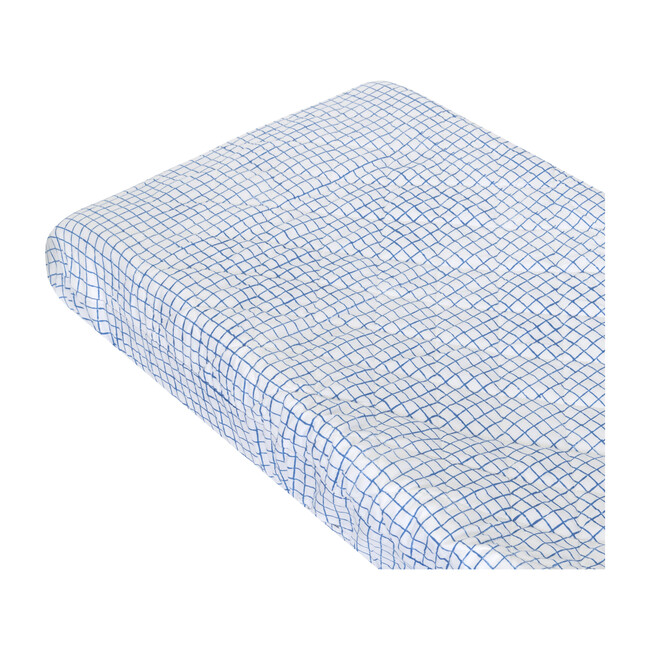 Archie Changing Pad Cover, Blue