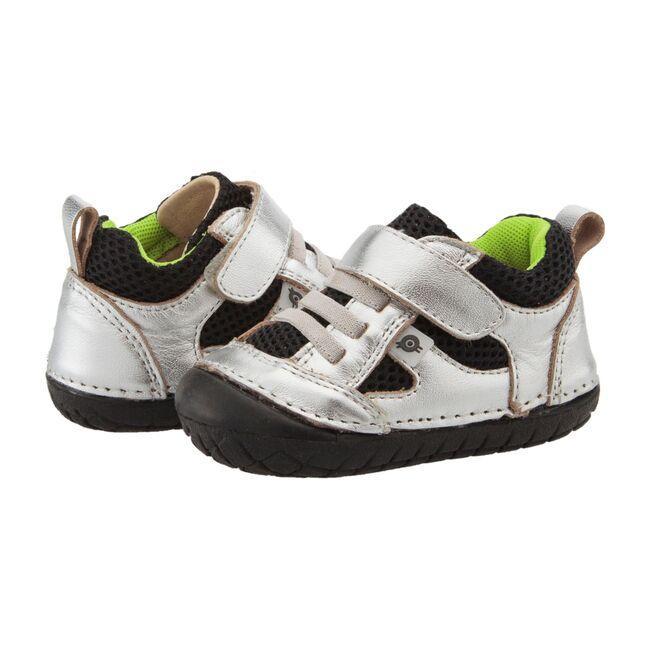 Bru Pave Sneaker, Silver & Lime