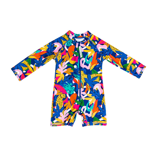 *Exclusive* Mini Taylor Long Sleeve Sunsuit, Jungle Roar