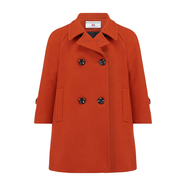 Clerkenwell Bridge Coat, Finsbury Orange - Wool Coats - 1