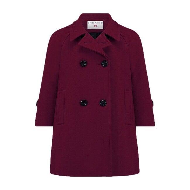 Clerkenwell Bridge Coat, Regent Burgundy - Wool Coats - 1