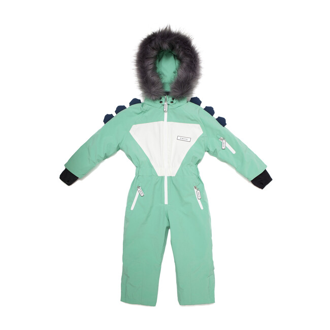 Spike the Dinosaur Ski Suit with Faux Fur trim