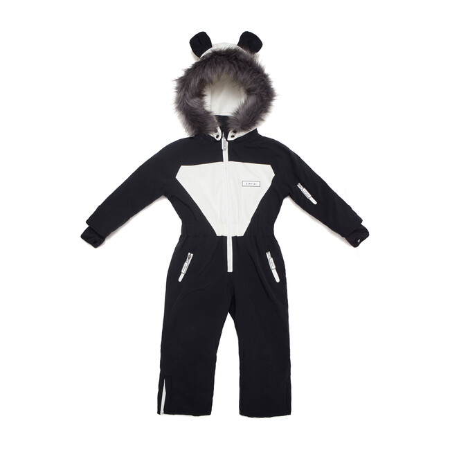 Patch the Panda Ski Suit with Faux Fur trim - Snowsuits - 1