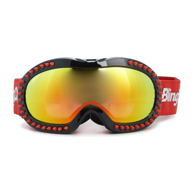 Red Spike Black Frame Ski Goggle