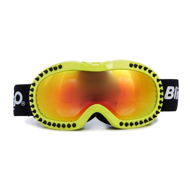Black Spike Lime Frame Ski Goggle