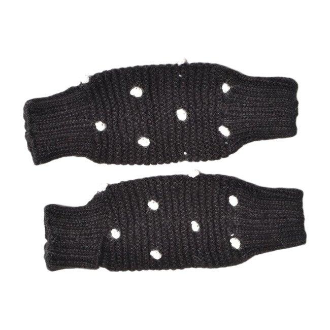 Dot Leg Warmers, Black