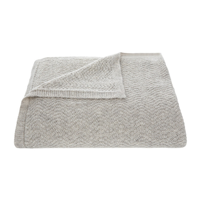 Wave Knitted Throw, Oat