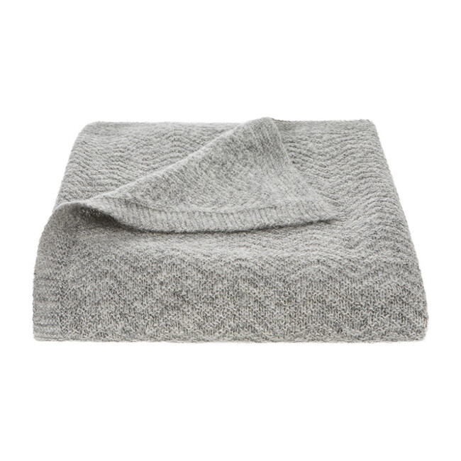 Wave Baby Blanket, Grey