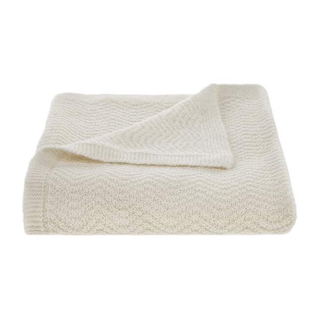 Wave Baby Blanket, Cream