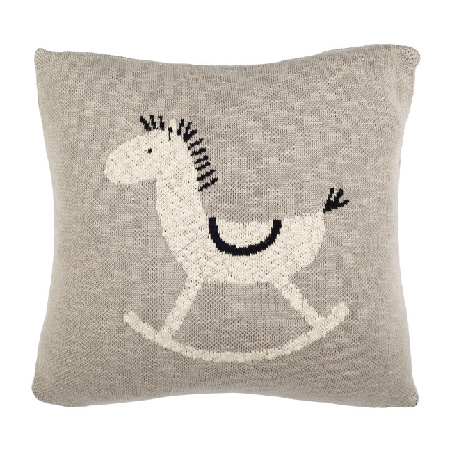 Tater Trot Pillow, Grey