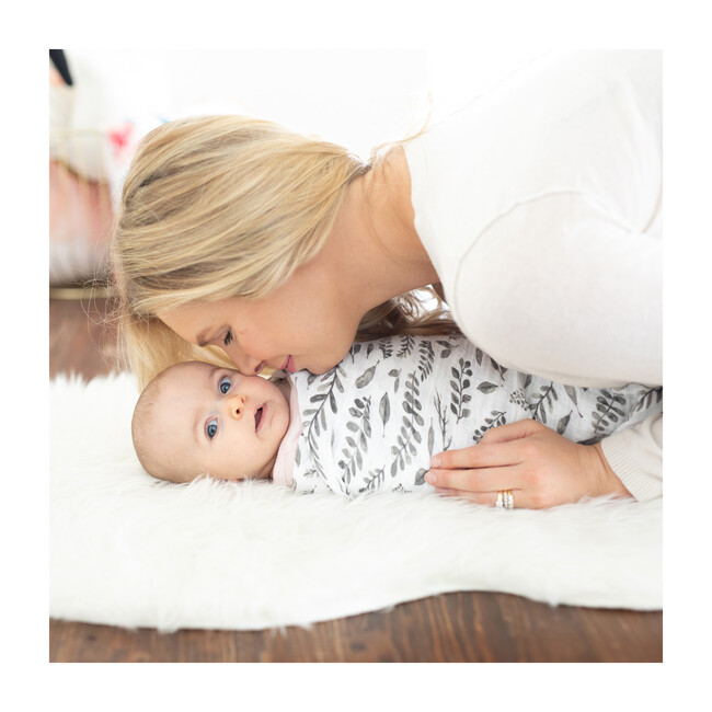 Swaddle Blankets, Just Be + Leaves