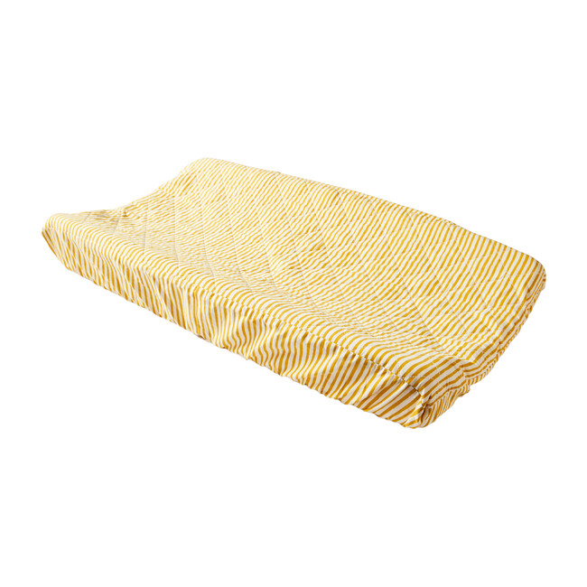 Stripes Away Changing Pad Cover, Soft Marigold