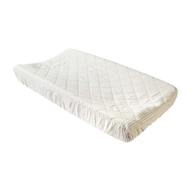 Stripes Away Changing Pad Cover, Sea - Changing Pads - 1