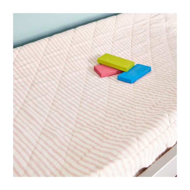 Stripes Away Changing Pad Cover, Petal