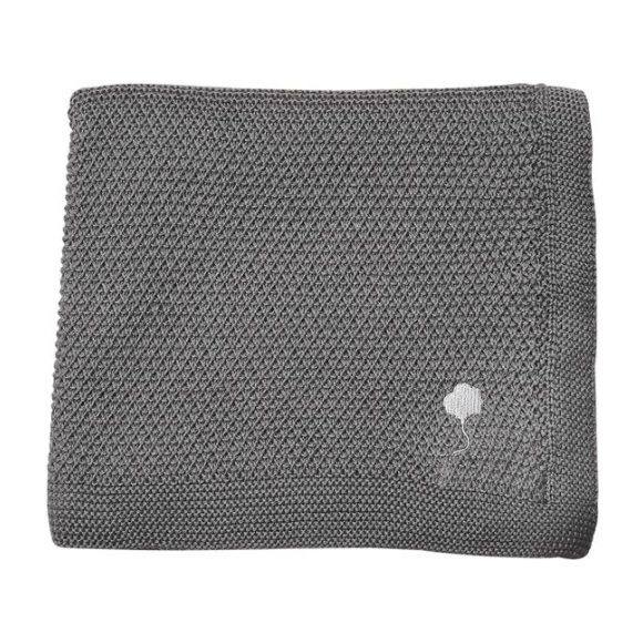 The Maeve Blanket in Cotton, Cumulus Grey